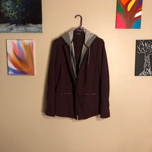 Jackets & Blazers - Ponte and French terry hoodie